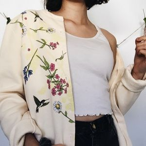 vintage yellow floral sweater